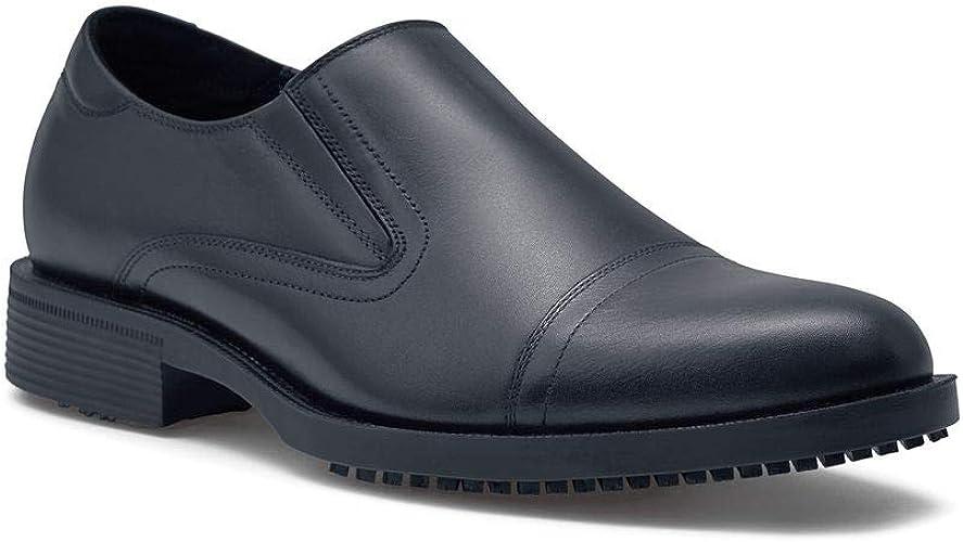 Shoes for Crews Men/'s Statesman Slip Resistant Slip On Cap Toe Dress Work Shoes
