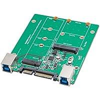 Syba SY-ADA50087 USB 3.1 or SATA III to M.2/mSATA SSD Adapter Green