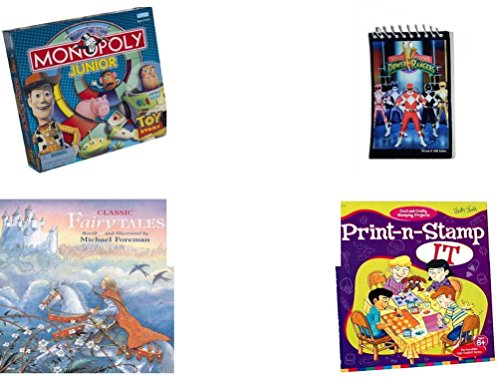 [Children's Fun & Educational Gift Bundle - Ages 6-12 [5 Piece] - Includes: Game - Toy - Plush - Hardcover Book - Paperback Book - No.] (Prince Philip Disney Costume)