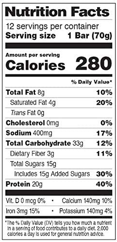 PROBAR - Base Protein Bar, Cookie Dough, Non-GMO, Gluten-Free, Healthy, Plant-Based Whole Food Ingredients, Natural Energy (12 Count) 5