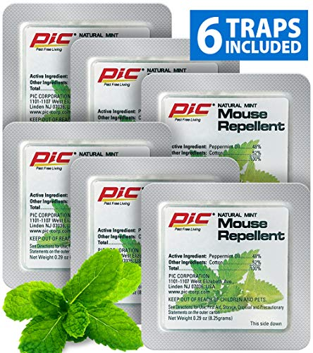 PIC Natural Mint Mouse Repellent (6-Pack)