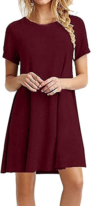 Vestidos Mujer Casual Verano 2019 Lanskirt Falda Corta Color ...