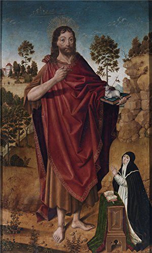 The Community Costumes Dean (Perfect Effect Canvas ,the Imitations Art DecorativeCanvas Prints Of Oil Painting 'Cruz Diego De La San Juan Bautista Y Una Donante 1480 85 ', 12 X 20 Inch / 30)