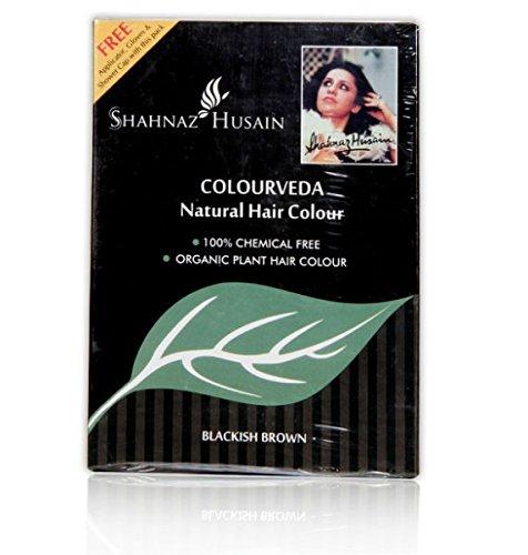 Shahnaz Husain Colourveda Herbal Ayurvedic Natural Blackish-Brown Hair Color Latest International Packaging 2 Pack (2 x 100 - Brown Color Blackish