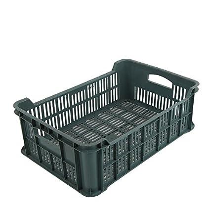 5 x plástico fruta (15 kg Caja de verduras fruta (apilables Caja Almacenamiento Caja