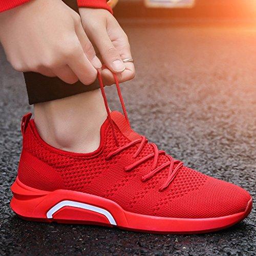 scarpe di Color scarpe selvatici 43 sport scarpe basse uomo da uomo Espadrillas casual scarpe uomo Red coreana Black da tendenza YaNanHome Size da Scarpe Estate da tela Rqwzx1Bv