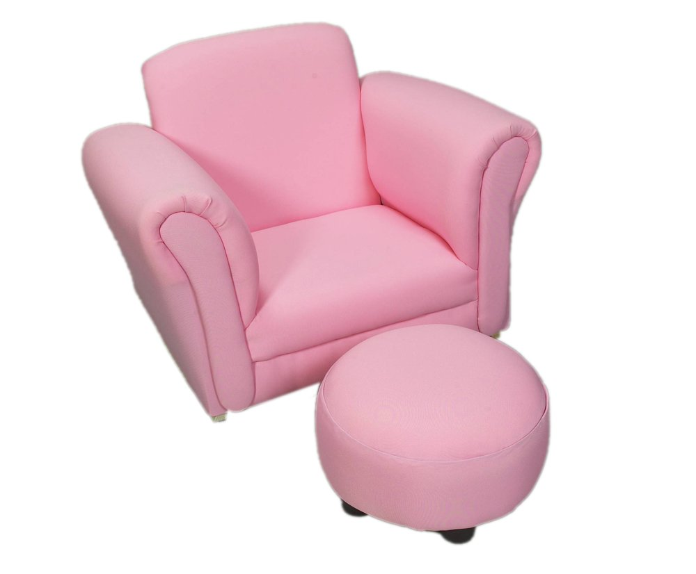 Amazon.com: Gift Mark Upholstered Rocking Chair And Ottoman, Pink: Kitchen  U0026 Dining