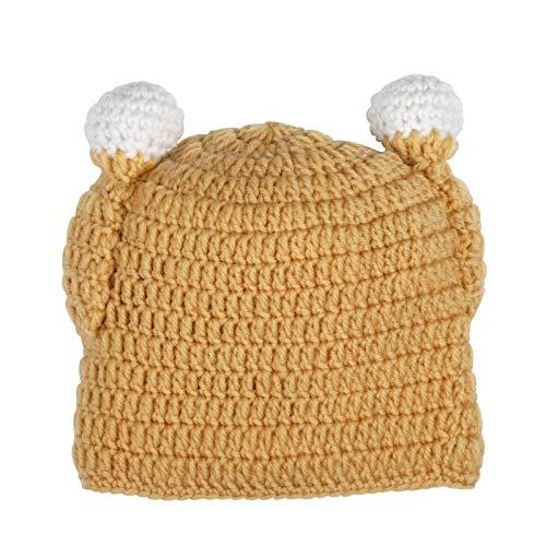 Naler Turkey Thanksgiving Kids Hat Brown Winter Crochet Beanie]()