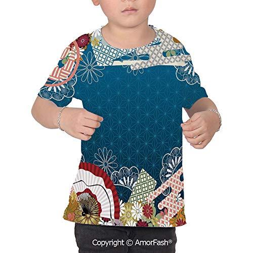 Modern Decor Girl Regular-Fit Short-Sleeve Shirt,Personality Pattern,Japanese Co