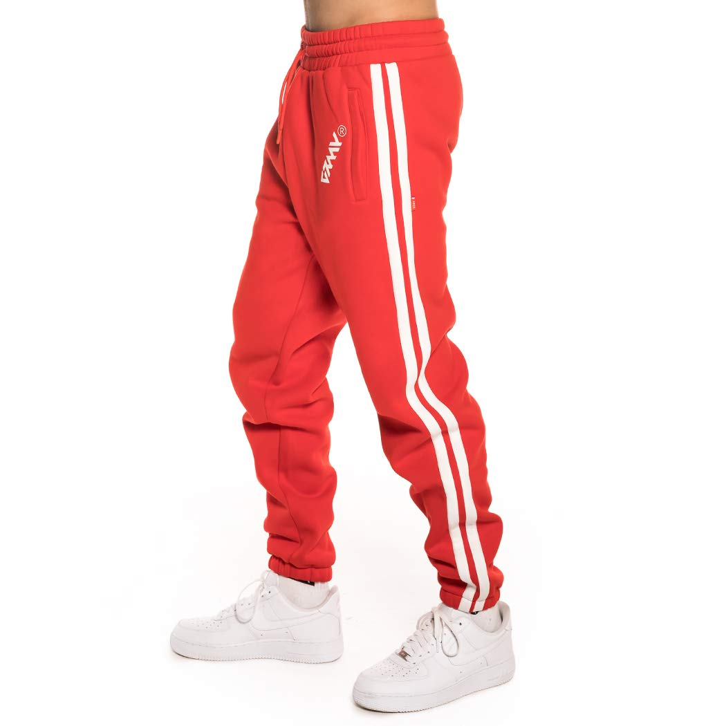 Grimey SMOOTH ECSTASY SWEATPANT FW18 RED GRTS144-RED