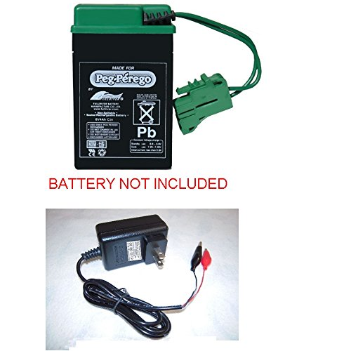 6v Clip Charger for Peg Perego Tractor train Express hayride Motorcycle Rocky Pony train Rider Ducati John deere Case Tractor Motorcycle Power Cord by pure power (Pony Express Ride)