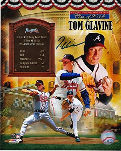 Tom Glavine Autographed Photograph - HOF 2014 8x10 - Autographed MLB - Autographed 8x10 Mlb Glavine Photo
