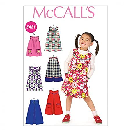 McCalls Girls Easy Sewing Pattern 6983 Pinafore Dresses: Amazon.co ...