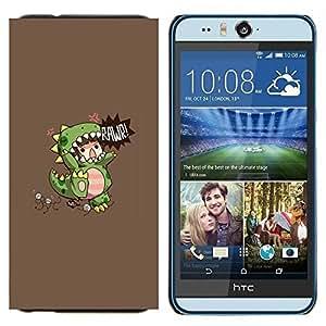 TECHCASE---Cubierta de la caja de protección para la piel dura ** HTC Desire Eye ( M910x ) ** --De los niños del dinosaurio del monstruo de la madre