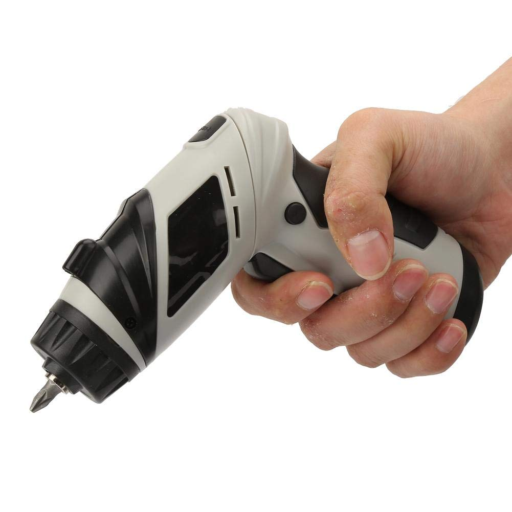 6V Cordless Electrical Screwdriver Rechargeable with Various Screw Bits for Furniture Assembly