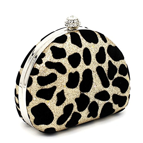 Kingluck Special Leatherette Clutches Occasion Leopard Wedding Design rq6nwrIS