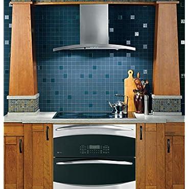 GE PV970NSS Profile 30 Stainless Steel Chimney Style Wall Mount Range Hood 450 CFM