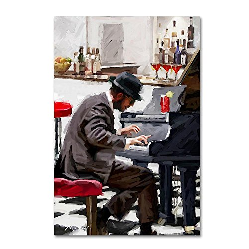 Piano Player by The Macneil Studio, 16x24-Inch Canvas Wall Art
