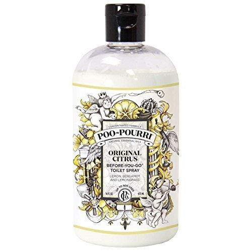Poo-Pourri Before-You-Go Toilet Spray 16-Ounce Refill Bottle, Original -