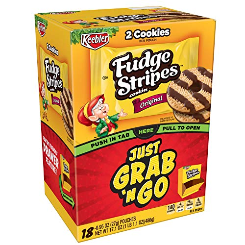 KeeblerFudge Stripes Cookies, Original, 17.1 oz Caddy (18 Count)