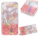Cistor Case for Huawei P20 Pro,Luxury Glitter Laser Marble Pattern Stone Texture Back Cover Shockproof Flexible Slim Fit Soft TPU Protective Case for Huawei P20 Pro + Free Ring Holder,Siltstone