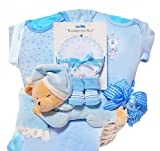 Napping Baby Bear Gift Basket for Newborn Boys