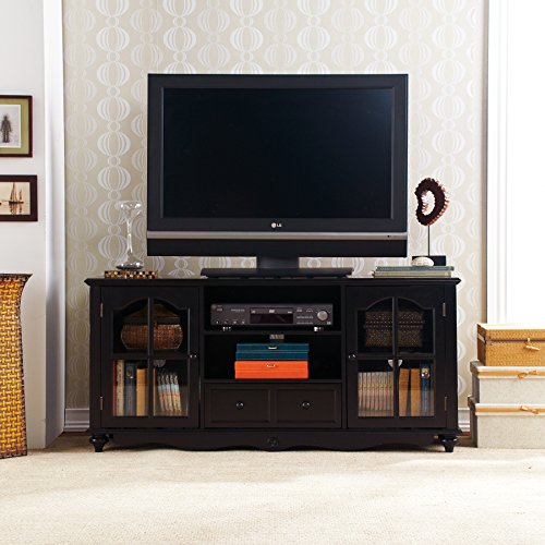 "037732007045 - Coventry 69"" TV Console - Antique Black carousel main 3"