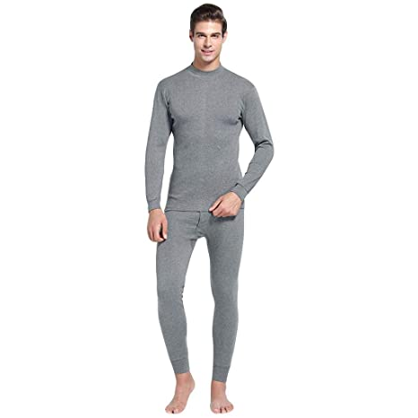 1fbc04399bc Image Unavailable. Image not available for. Color  Men s Thermal Underwear  Long John Set Base Layer Top and Bottom ...
