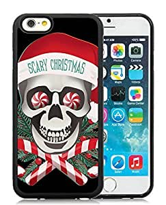 Individualization iPhone 6 Case,Scary Christmas Black iPhone 6 4.7 Inch TPU Case 1
