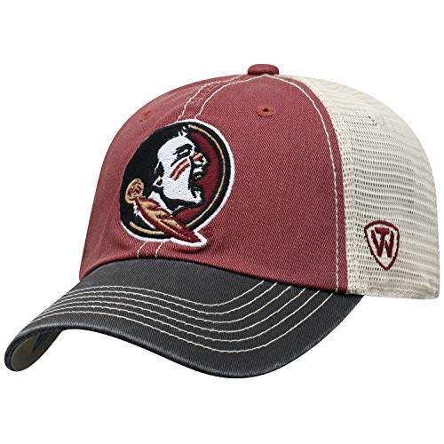 Top of the World Florida State Seminoles Men's Mesh-Back Hat Icon, Garnet, Adjustable