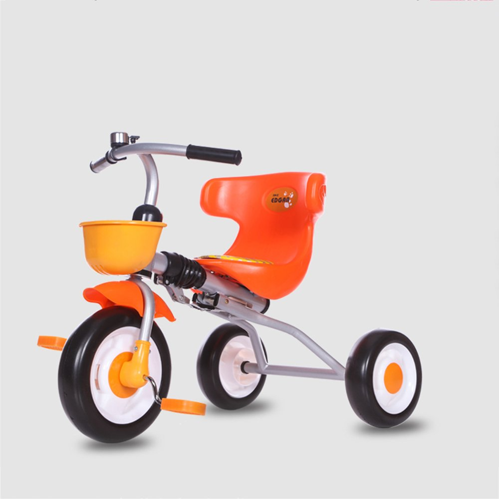 LVZAIXI スマートなデザインの子供たちの子供の折り畳み三輪車の三輪車の乗り物2-5歳 ( 色 : オレンジ ) B07CDQKC5Fオレンジ