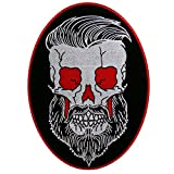Best unknown Beards - Hot Leathers, BEARD SKULL, High Quality Iron-On / Review