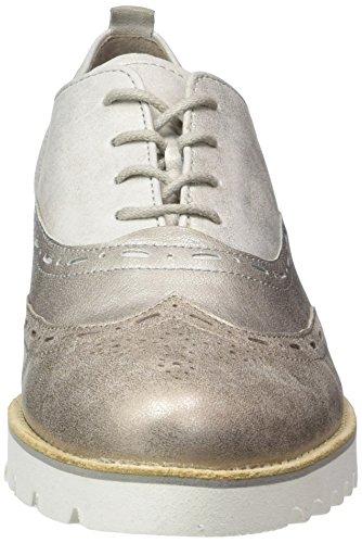 Donna K 12 s Silber Scarpe Gabor Comfort weiss Stringate Argent Argento t8p8fqgw