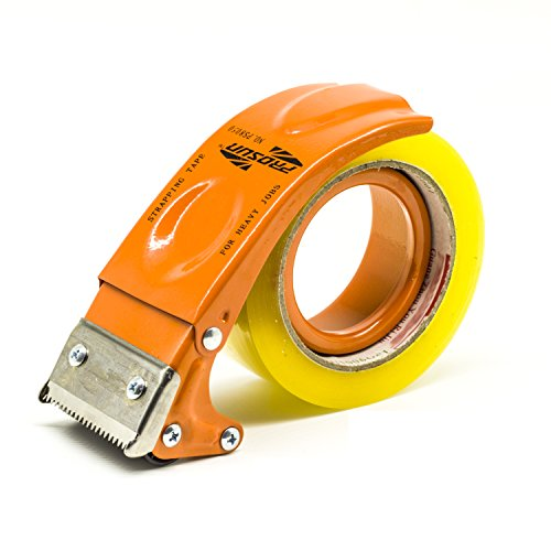 PROSUN Metal Handheld 3 Inch 75mm Tape Gun Dispenser Packing Packaging Sealing Cutter Orange TG08-ORG 3' Heavy Duty Tape Dispenser