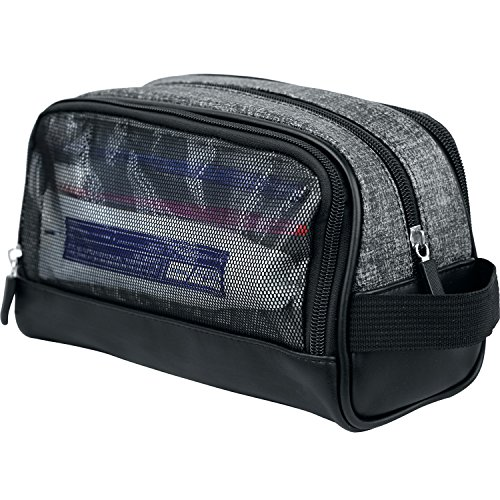 Price comparison product image WOWBOX Travel Kit Toiletry Bag Waterproof Cosmetic Makeup Shower Bag Shaving Dopp Kit Case Accessories Organizer for Men and Women with Side Hand Strap