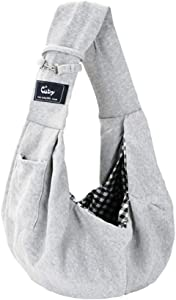 Cuby Dog and Cat Sling Carrier – Hands Free Reversible Pet Papoose Bag - Soft Pouch and Tote Design – Suitable for Puppy, Small Dogs, and Cats for Outdoor Travel