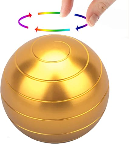 Gift for Adults and Kids Panshi Kinetic Desk Spinning Toy,Full Body Optical Illusion Spinner Ball Gadget for Office