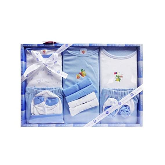 Mini Berry New Born Baby Gift Set in Blue Color 13 PCs