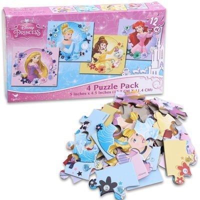 Disney Princess Four Puzzle Pack
