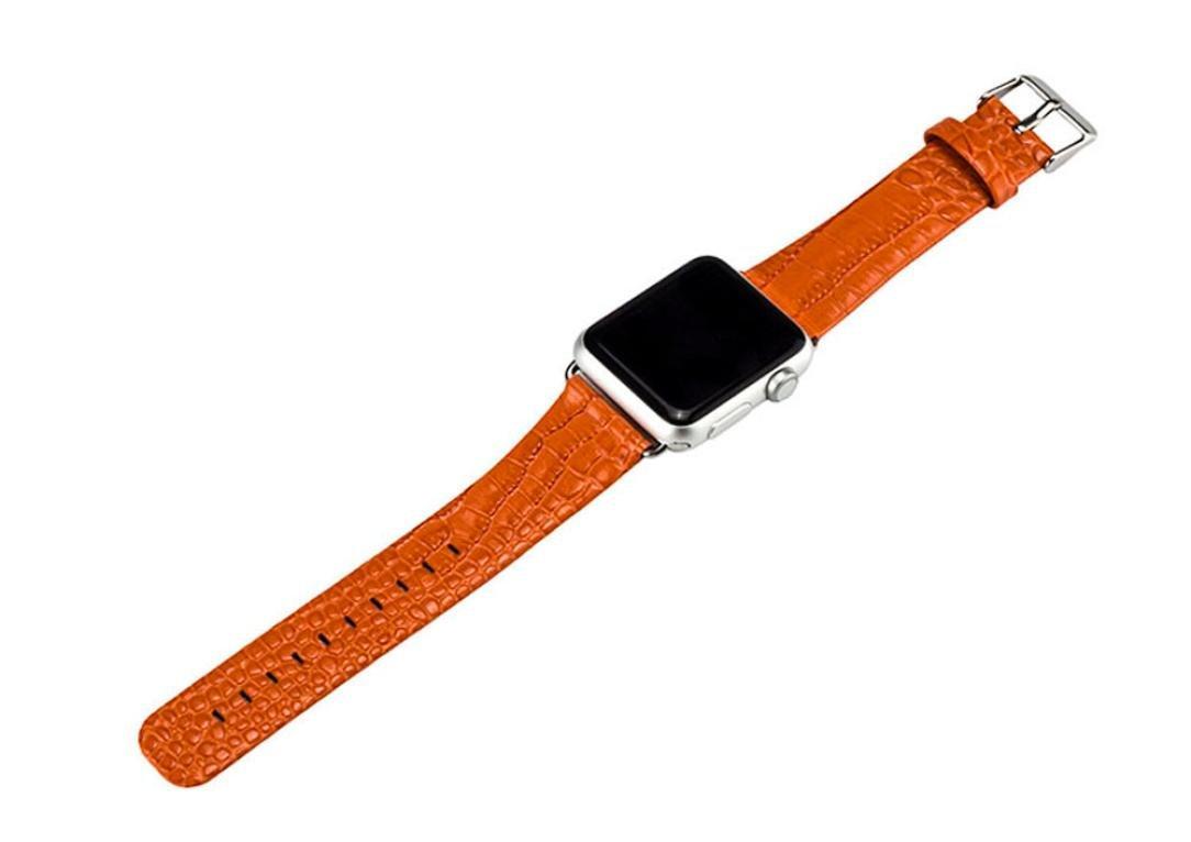 Ankola for Apple Watchシリーズ1 / 2バンドシングルツアーレザーバンド交換リストブレスレットストラップ 38mm オレンジ 38mm|オレンジ オレンジ 38mm B071FBXWRZ