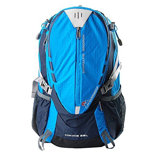 Oxking Outdoor Hiking Climbing Cycling Backpack Waterproof Mountaineering Bag M509 Shoulder Bag 25L-35L Unisex Laptop School Travel Bag Free Gift + Nail Clippers Multi Colors (Sky Blue) [並行輸入品] B07DVPD3N4