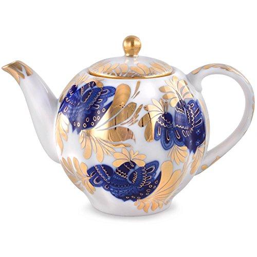 Golden Garden Teapot - Imperial Porcelain Teapot Golden Garden
