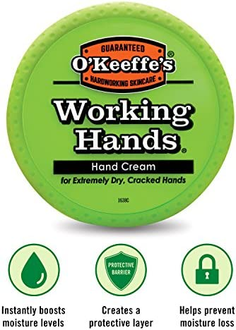 O'Keeffe's Working Hands Hand Cream, 3.4 ounce Jar, (Pack of two)