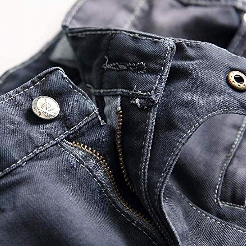 Spodnie jeansowe dla mężczyzn męskie dżinsy rurki retro jogger dżinsy sportowe moda Basic spodnie do biegania destroyed prane Straightcut elastyczne rozrywane dżinsy spodnie zimowe (kolor: czarny
