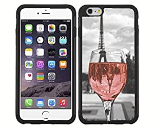 Wine Glass in Paris Rubber Snap on Case (iPhone 4 4s)