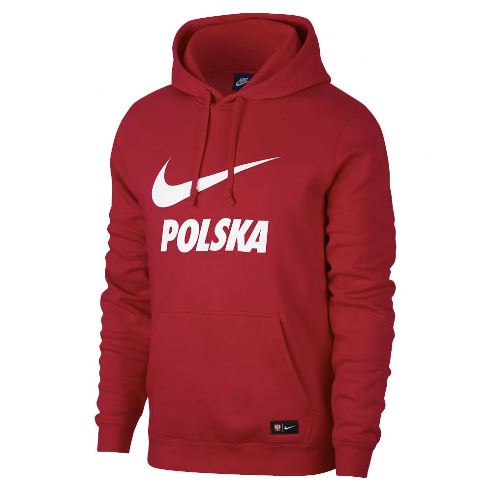 Nike 2018-2019 Poland Core Hooded Top (ROT)