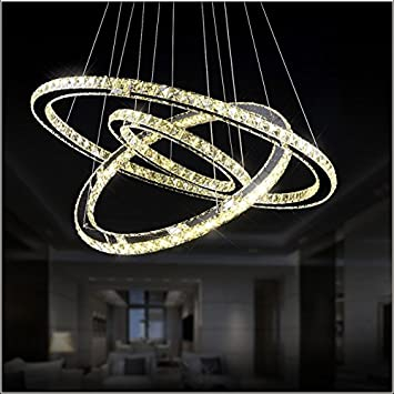 Amazon meerosee lighting diamond crystal ring led chandelier meerosee lighting diamond crystal ring led chandelier crystal lamp modern crystal light fixture circle hanging lustres mozeypictures Choice Image