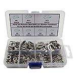 HVAZI 370PCS Stainless Steel Split Lock Washers Assortment Kit,For M3 M4 M5 M6 M8 M10 M12 screws/bolt