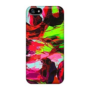 Anti-scratch And Shatterproof Abstract Paint Phone Case For Iphone 5/5s/ High Quality Tpu Case
