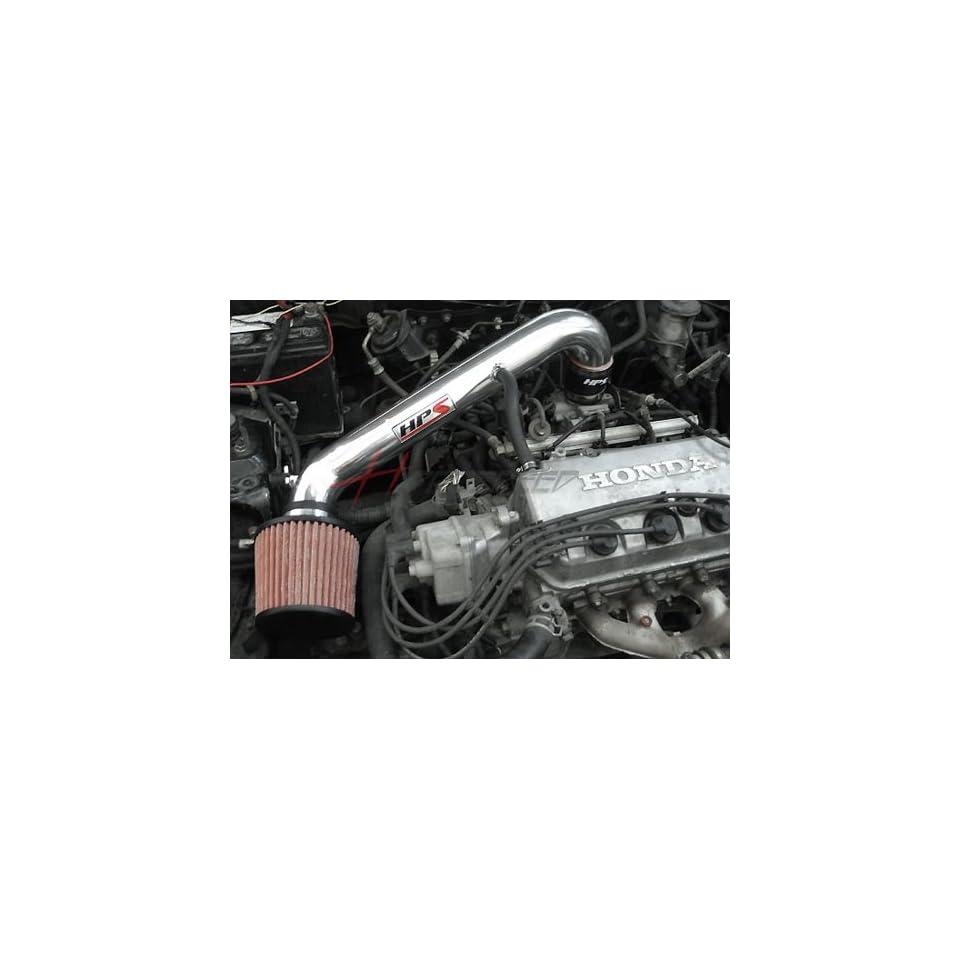 96 00 Honda Civic DX LX CX HPS Short ram Air Intake Kit Polish 97 98 99